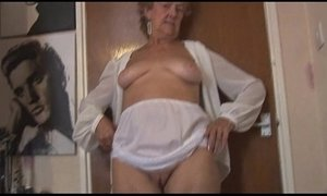 blonde mature  granny  stockings  teasing