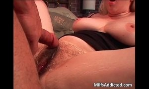 bitch  blonde mature  dick  hairy pussy  natural big tits  riding on boy