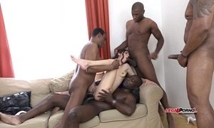 black mature  cock  gangbang  interracial  young and old