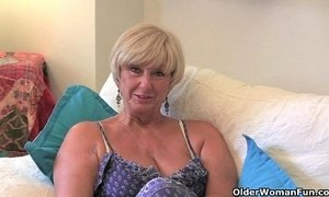 british mom  grandma  granny  orgasm